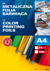 Metaliczna folia barwiąca - arkusze A4