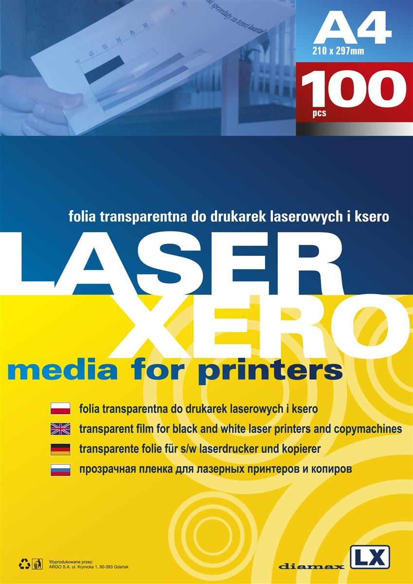 Film for laser printers and copy machines