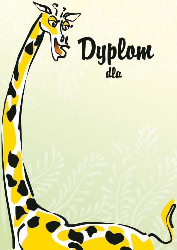 Dyplom Żyrafa
