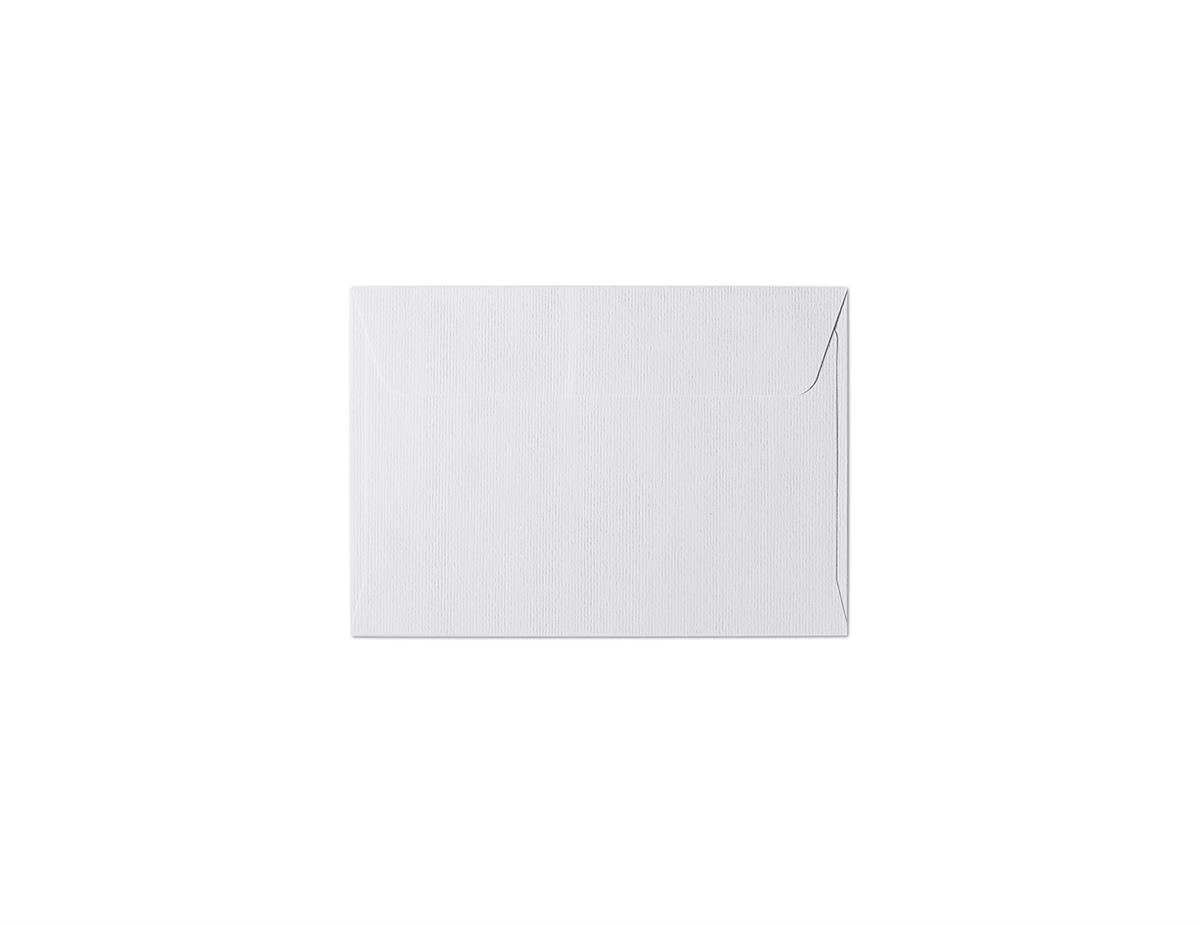 Koperta Prążki biały B7