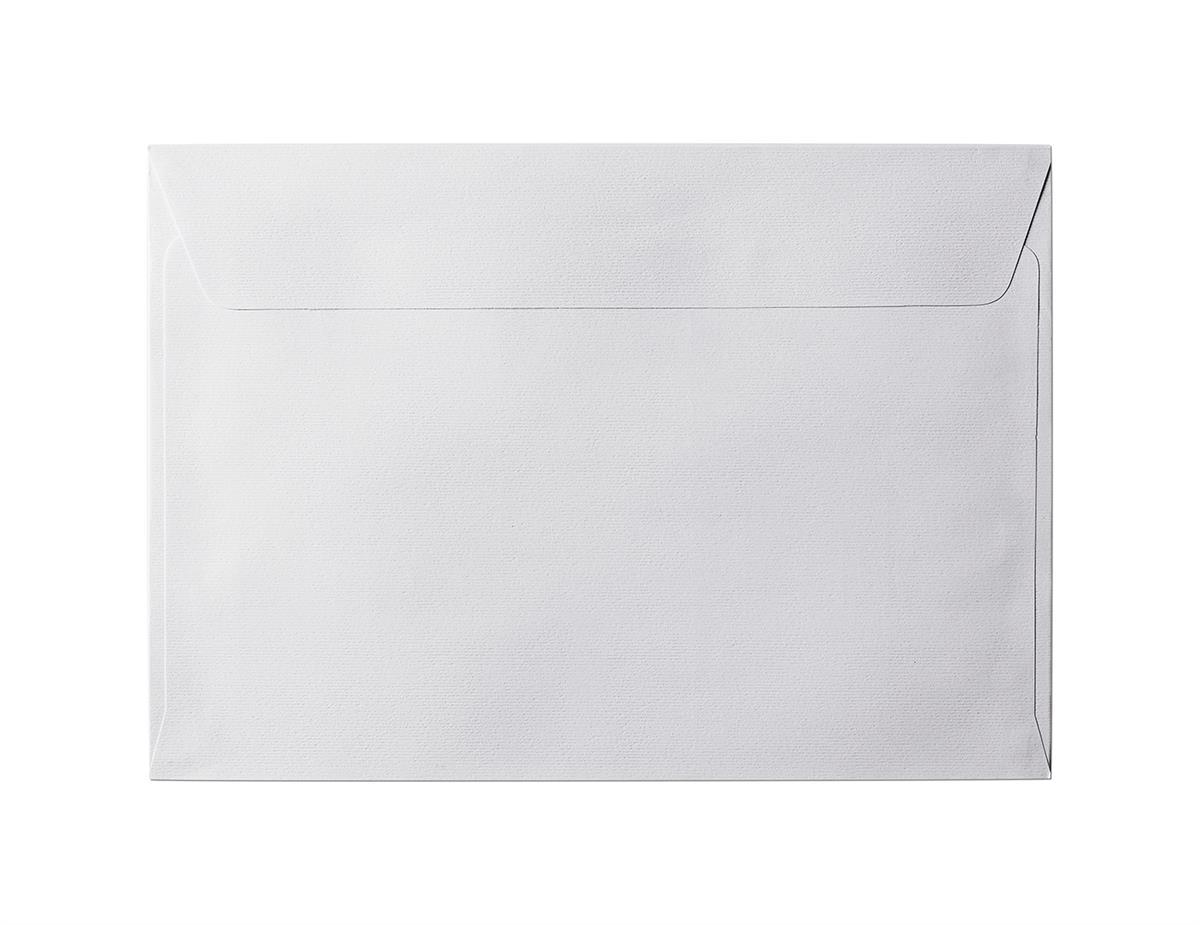 Koperta Prążki biały C5