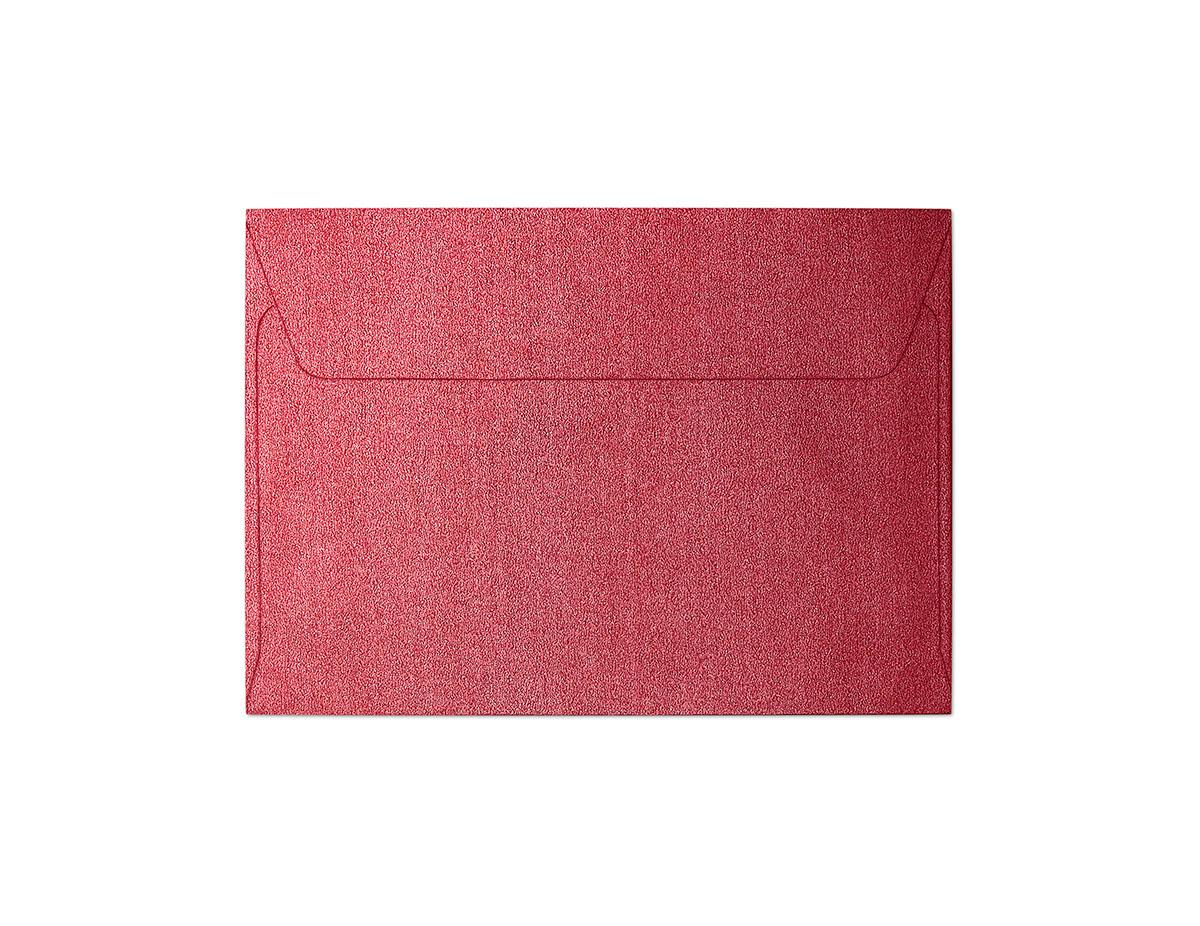 Koperta Pearl czerwony C6