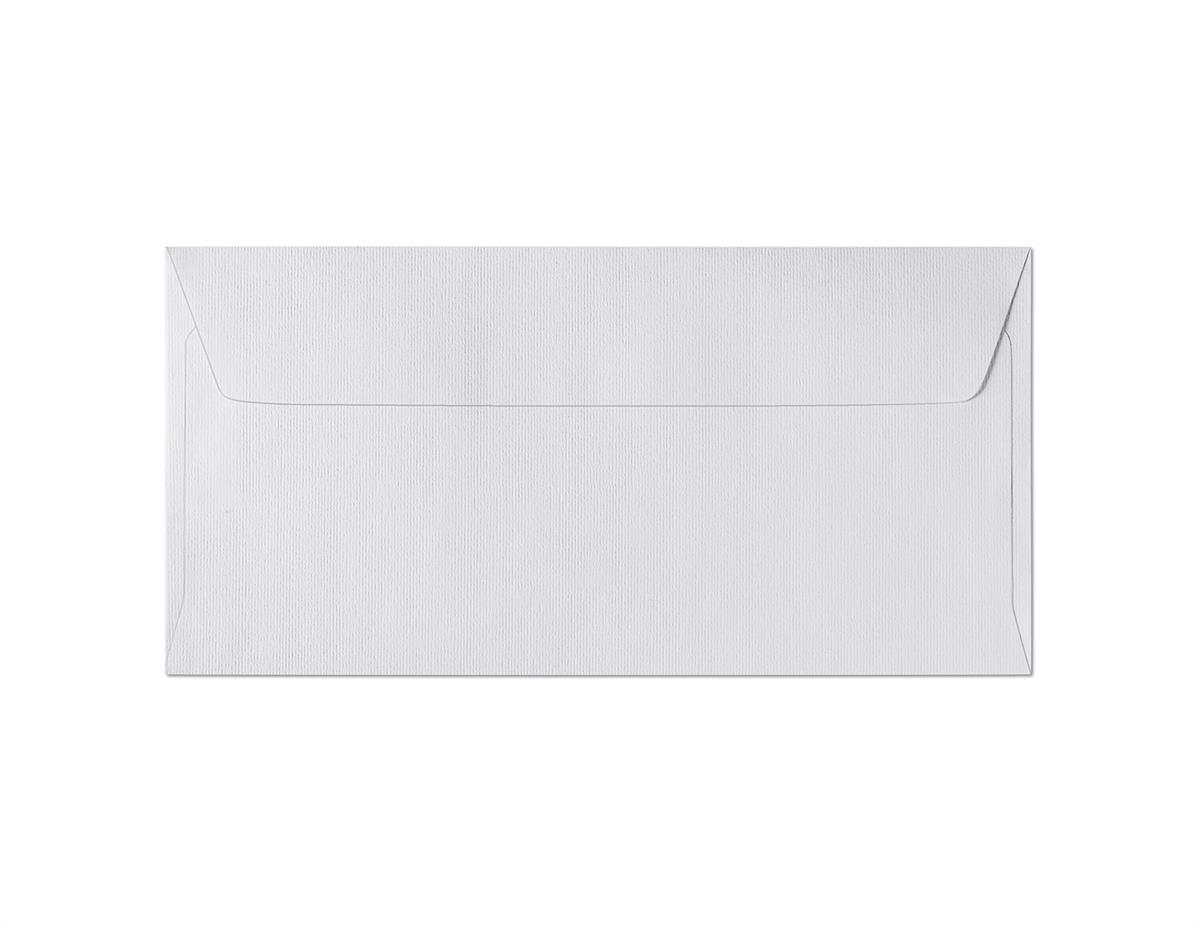 Koperta Prążki biały DL