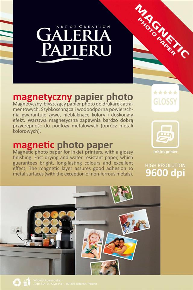 Paper 10x15 photo magnetic