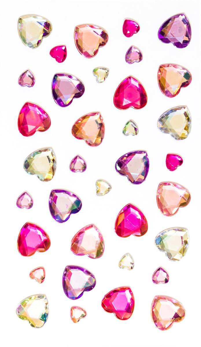 Kryształki Serca różowe