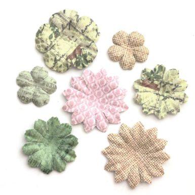 Kwiaty Płatki mix pastelowy