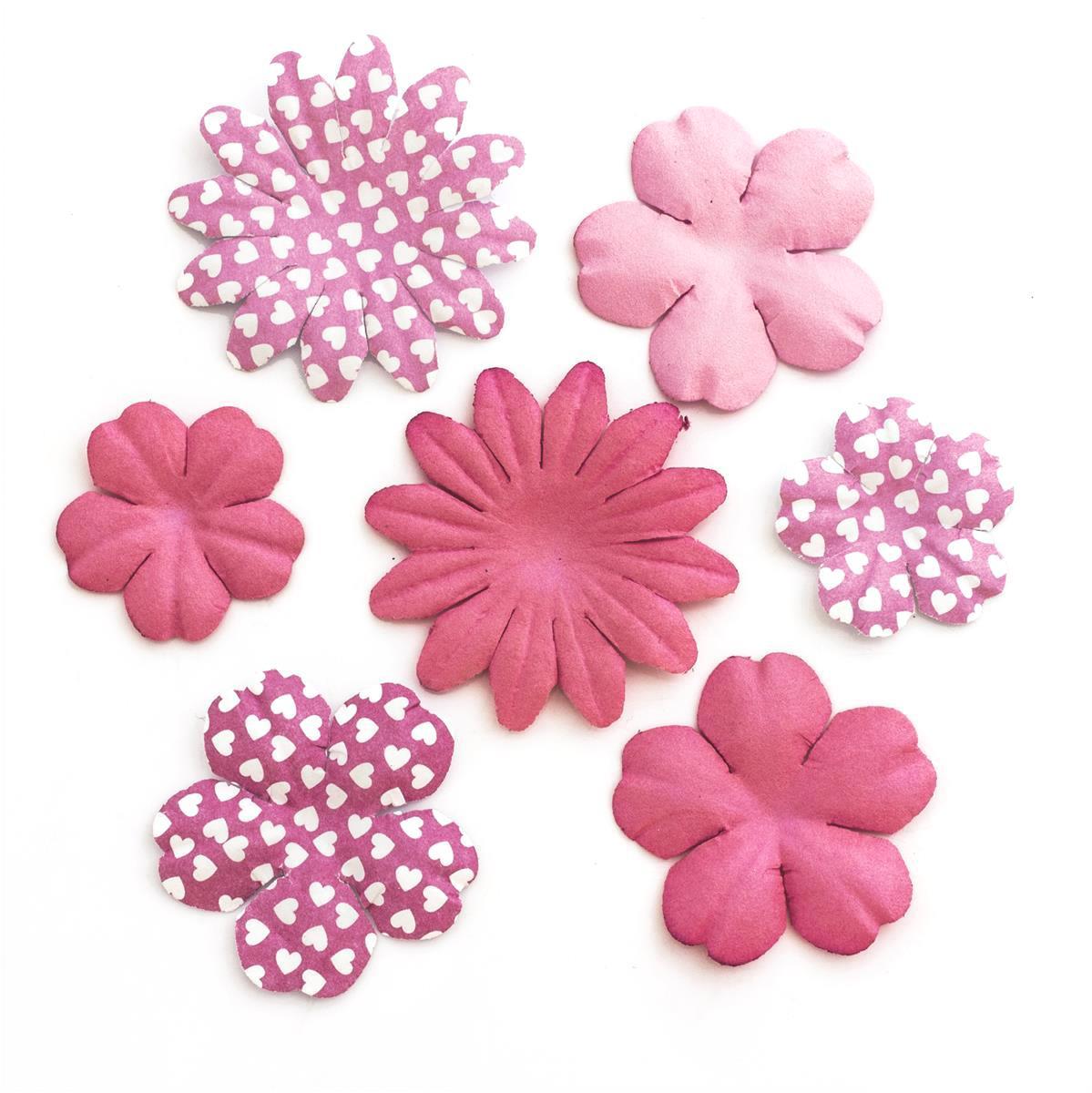 Kwiaty papierowe Płatki mix różowy