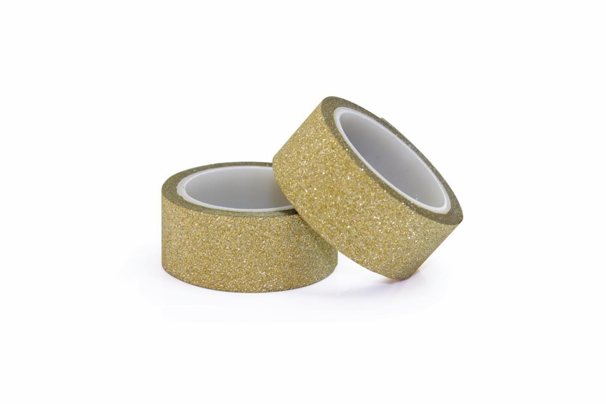 Glitter tape self-adhesive gold