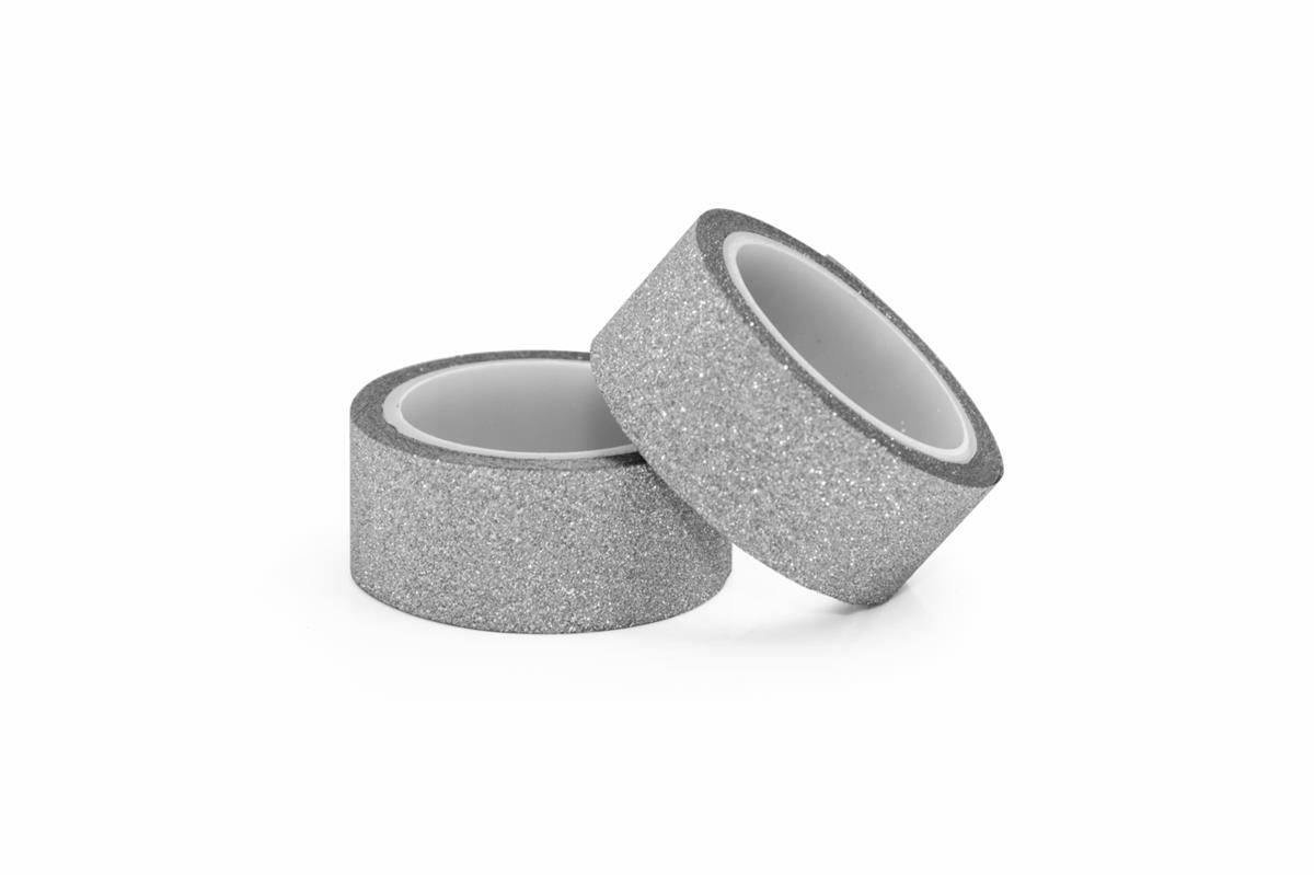Taśma brokatowa srebrna