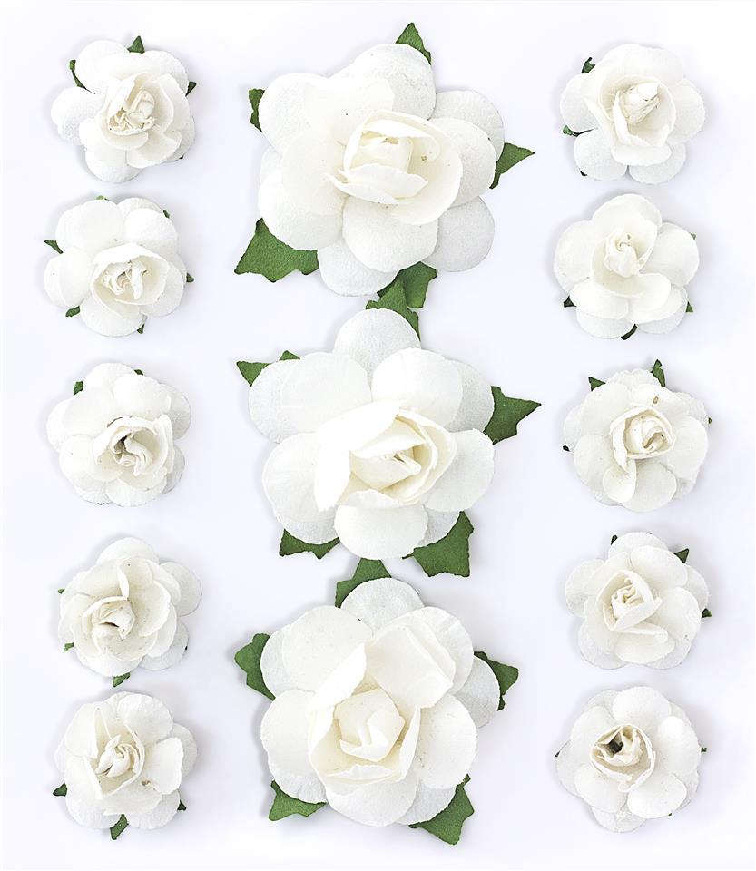 Kwiaty z łodyżką Róże biały