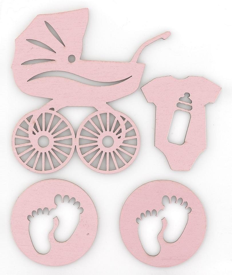 Dekoracje wycinane - Baby różowy