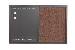 2in1 dry erase magnetic&cork 60x40cm board