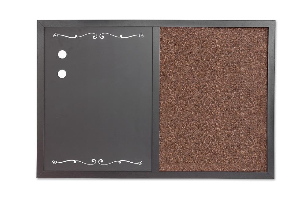 Tablica 2w1 kredowo-magnetyczna i korkowa