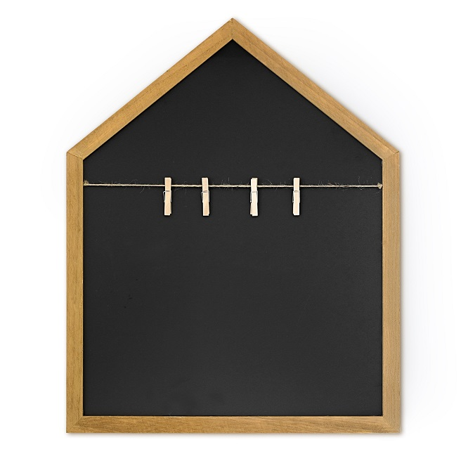 Tablica kredowa Domek z klamerkami