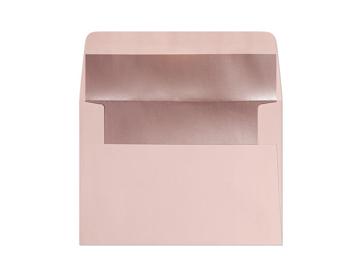 Koperta Gładki różowy-metalizowany C6