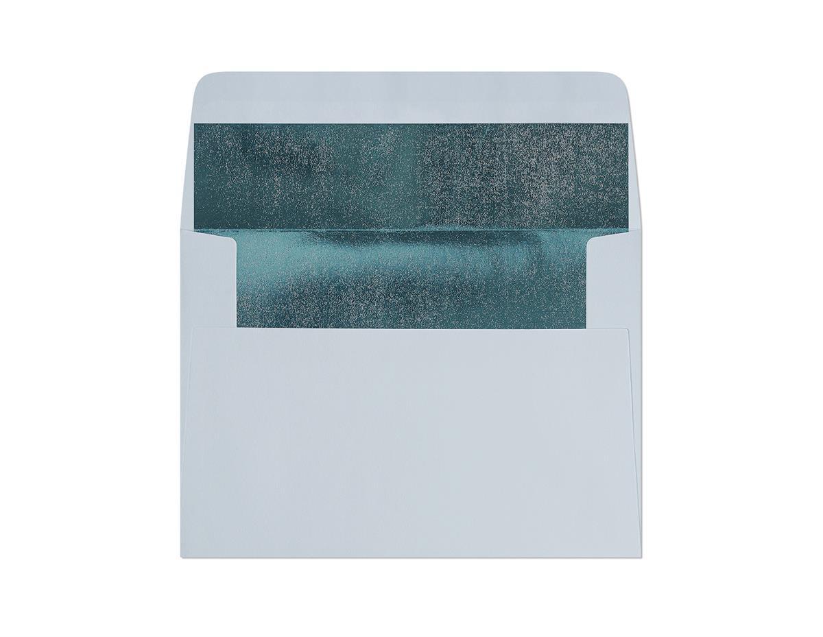 Koperta Gładki niebieski-metalizowany C6