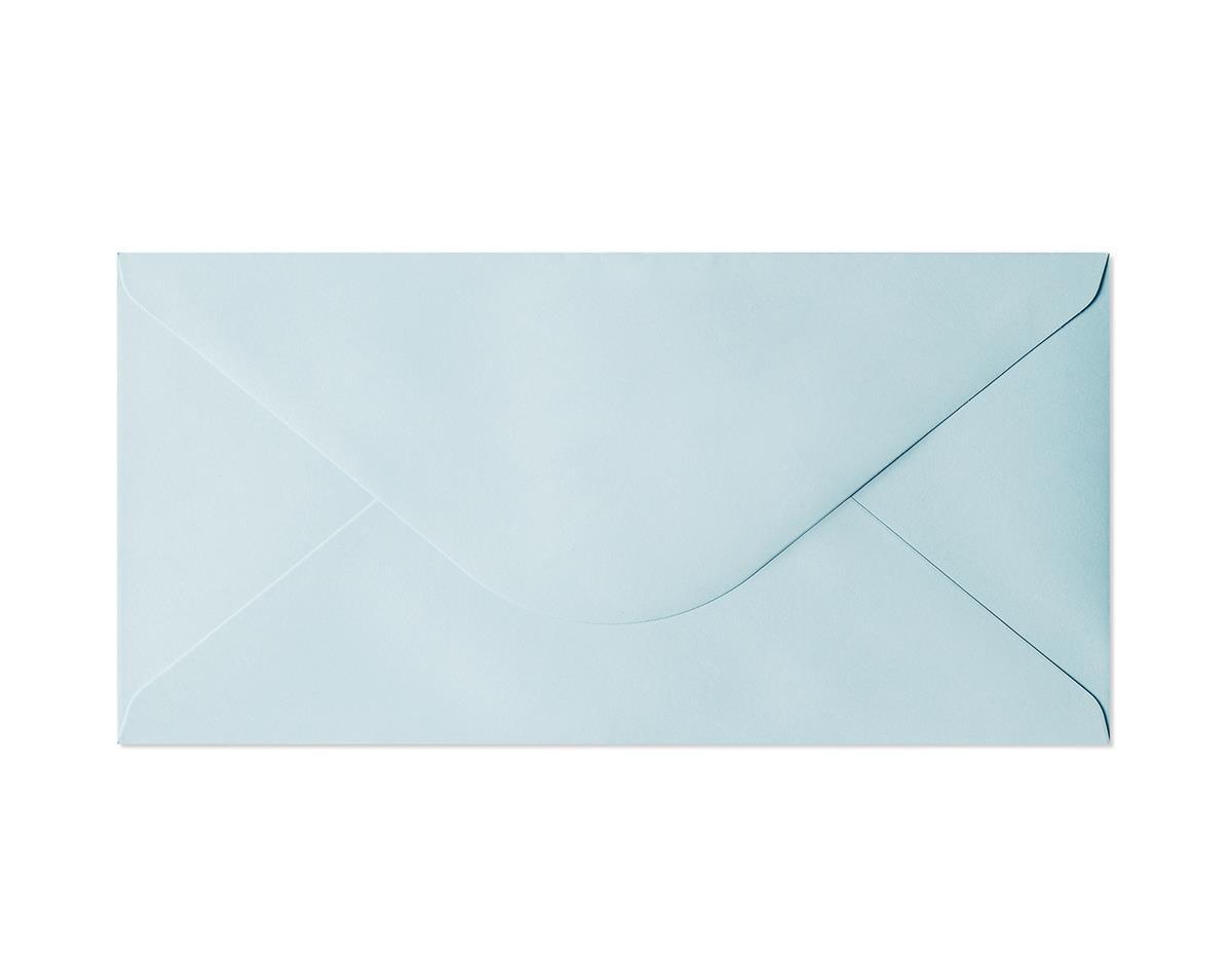 Koperta Gładki niebieski DL