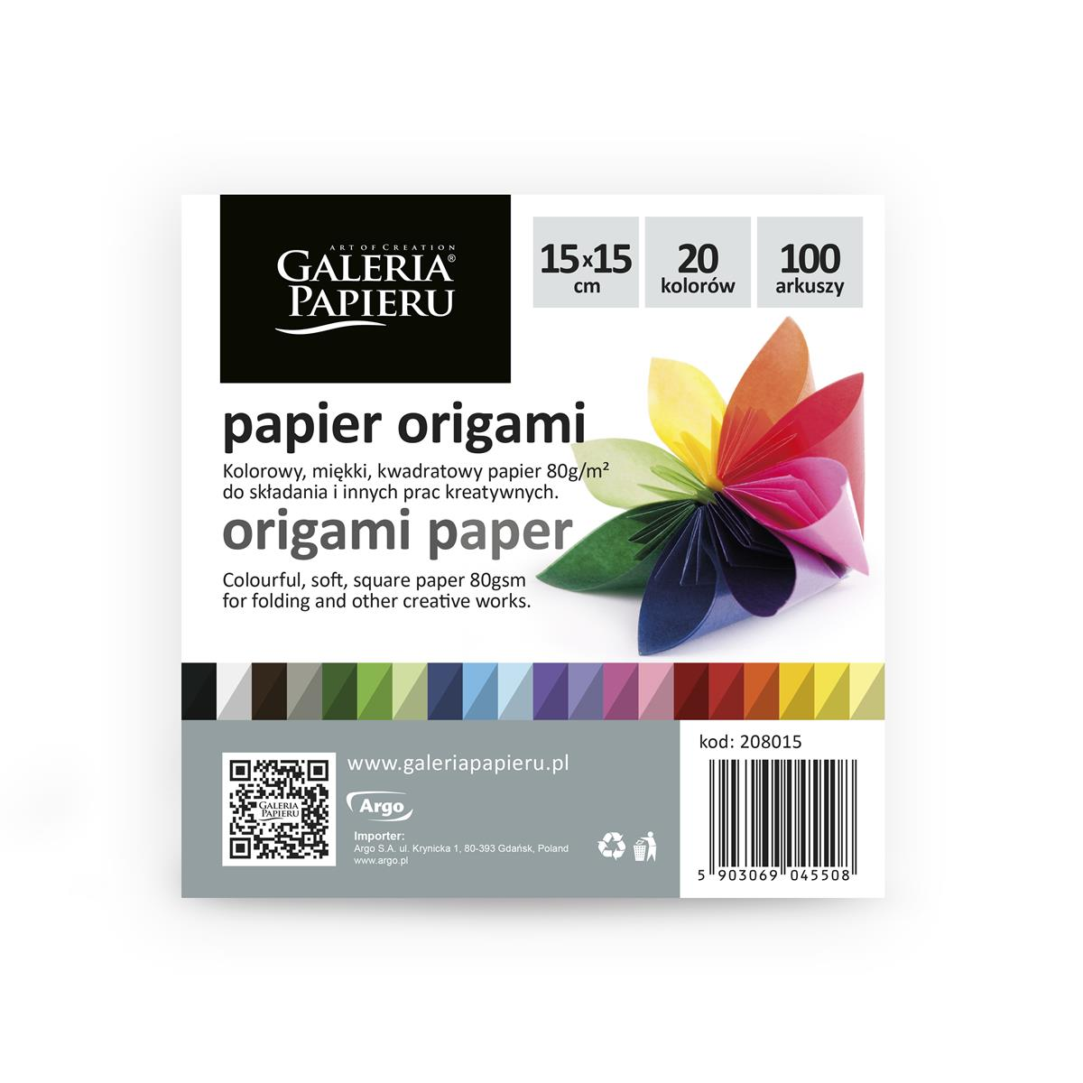 Papier origami 15x15cm