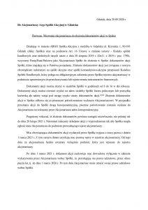 Wezwanie akcjonariuszy do składania dokumentów akcji w Spółce