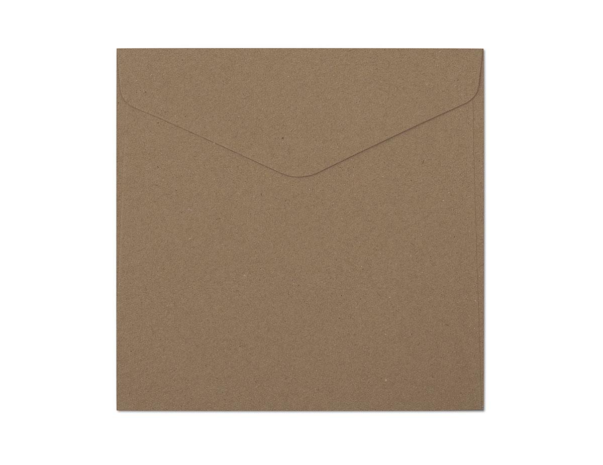 Decorative envelope Kraft dark beige KW160