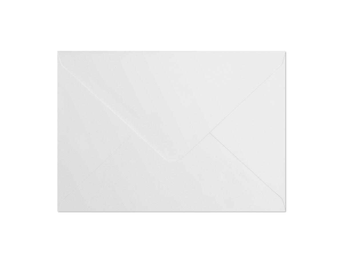 Koperta Gładki biały B6
