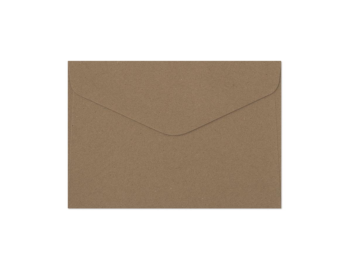 Decorative envelope Kraft dark beige C6