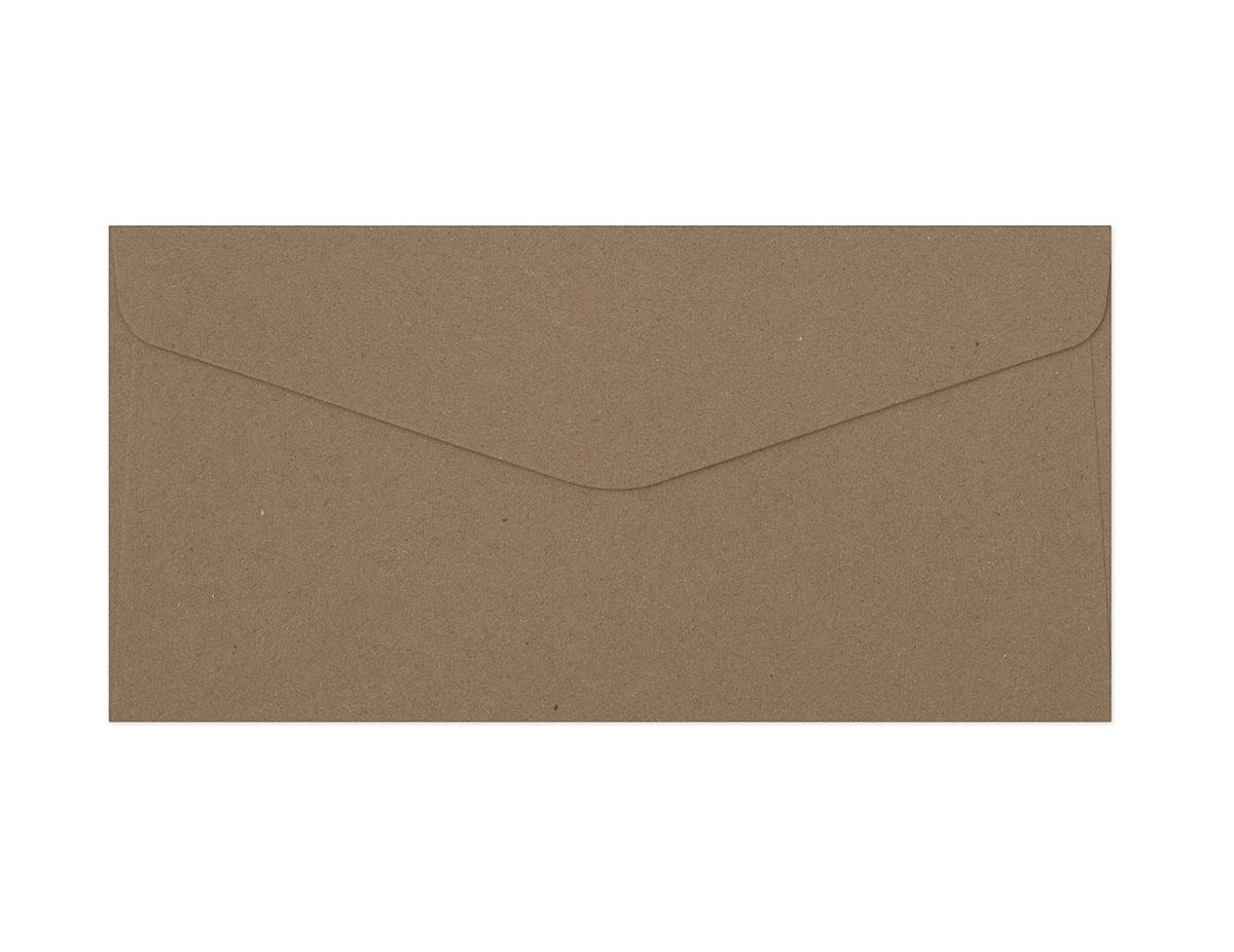 Decorative envelope Kraft dark beige DL