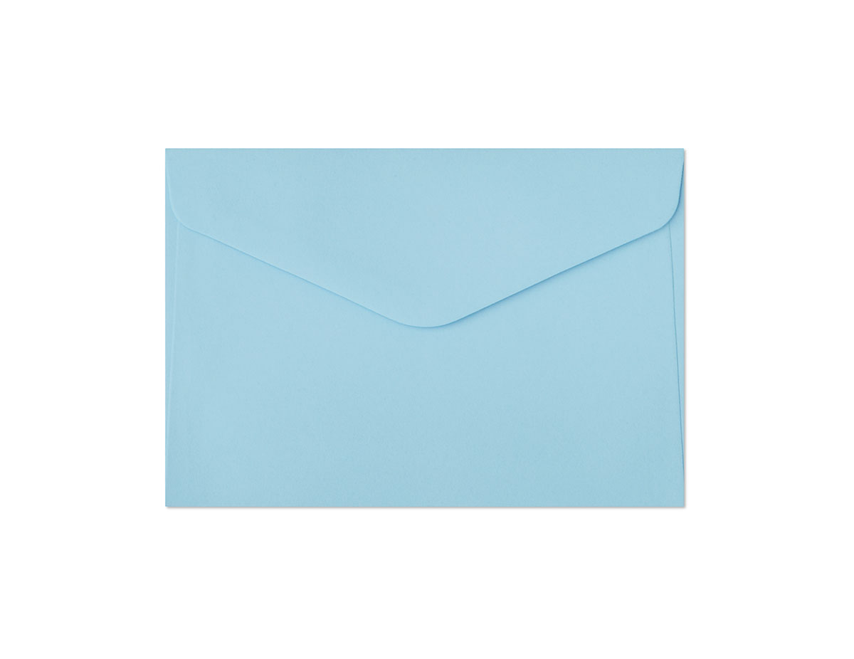 Koperta Gładki niebieski C6
