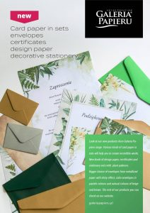 New Galeria Papieru offer 2021