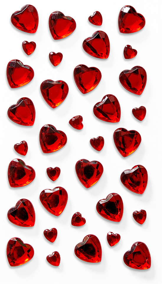 Kryształki Serca czerwone